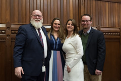 State Reps. Bill Buckbee, Stephanie Cummings and Christie Carpino, and former State Rep. Bob Siegrist posed for a photo during the opening day of the 2020 legislative session.