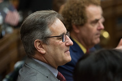 Rep. John Fusco listens during the opening day of the 2020 legislative session.