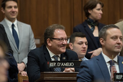Rep. Tony D'Amelio enjoys a light moment during the opening day of the 2020 legislative session.