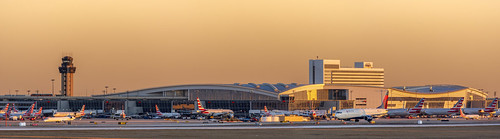 dfw panorama golden hour sunset sundown aircraft airport