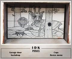 Garage door backdrop