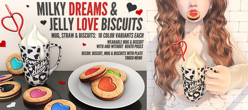 Blah. New VIP Group Gift : Milky Dreams & Jelly Love Biscuits ♥
