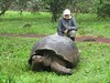 David Stanley with a Giant Tortoise by D-Stanley