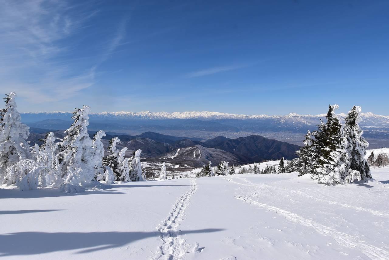 根子岳スノーシュー登山