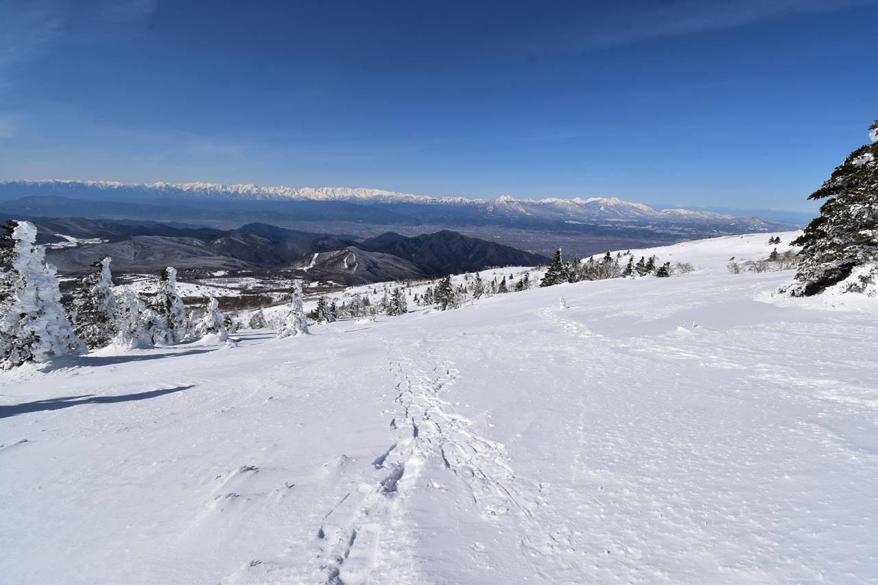 冬の根子岳 峰の原高原コース 雪山登山