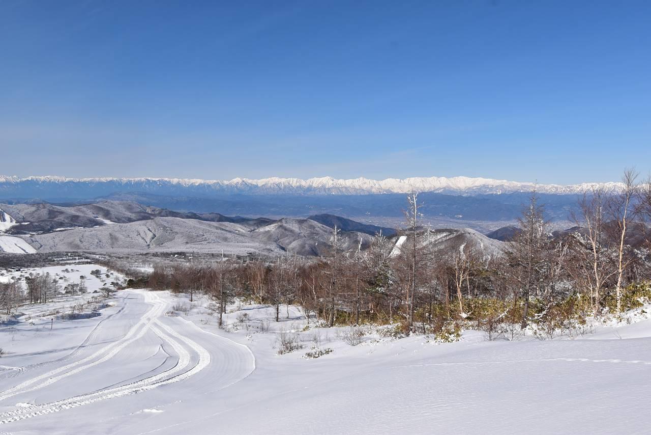 冬の根子岳登山 北アルプスの展望