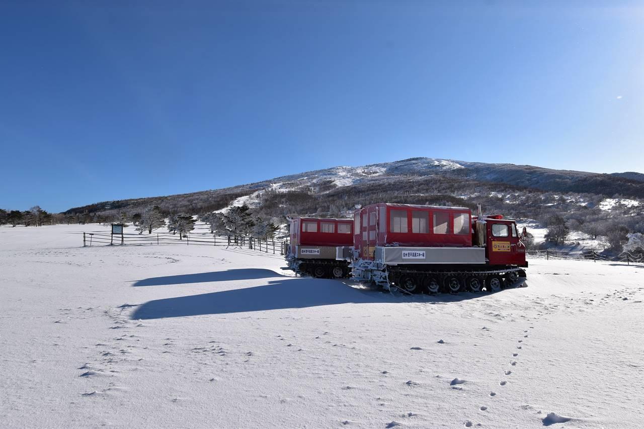 奥ダボススキー場 スノーキャットと根子岳