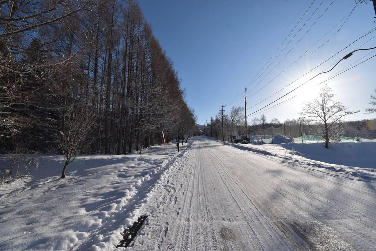 奥ダボススキー場までの林道歩き