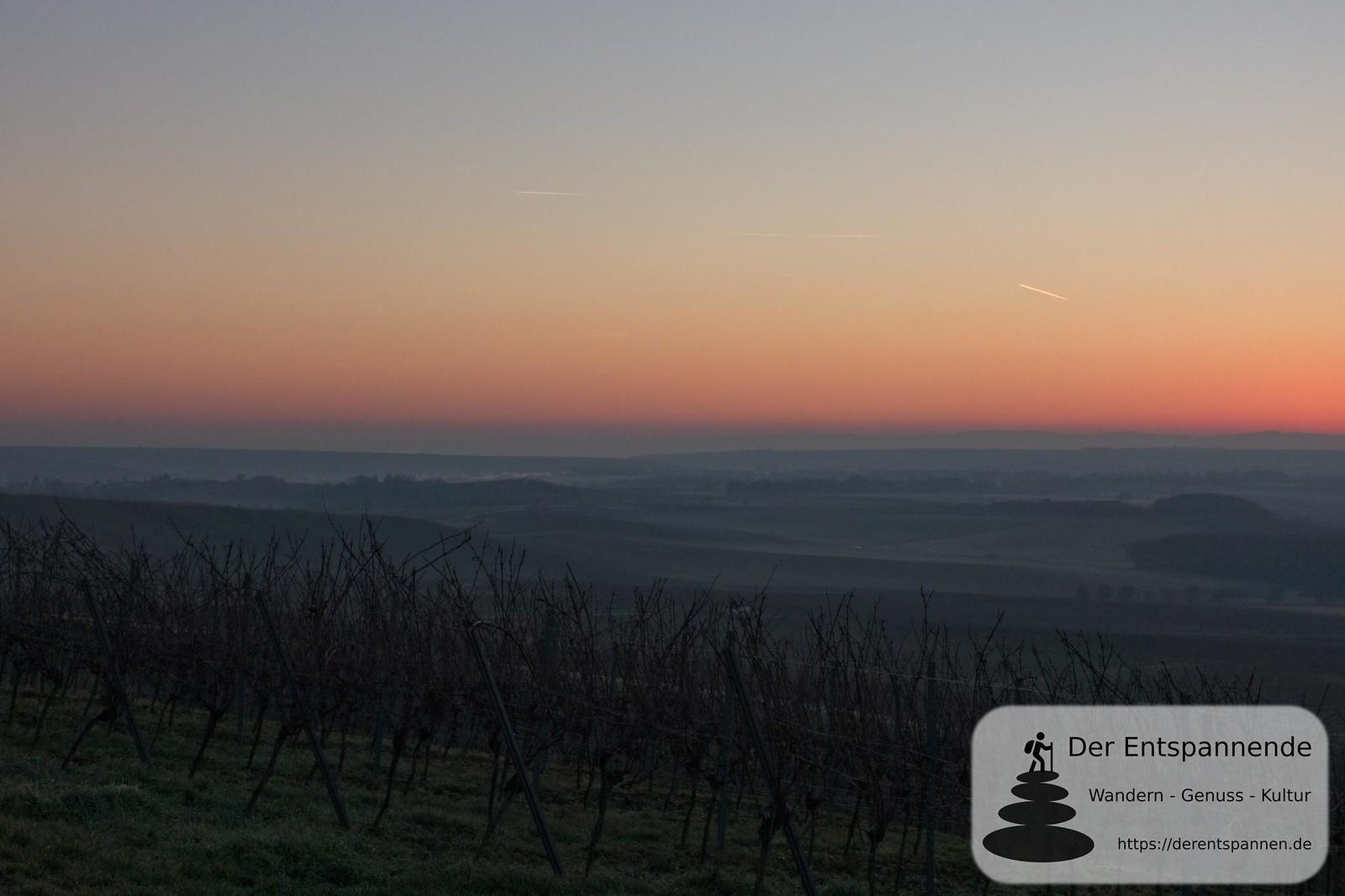Sonnenaufgang über dem Selzbogen (Selzer Gottesgarten, Januar am Selzbogen)
