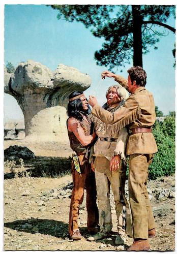 Dan Martin, Mike Brendel and Anthony Steffen in Der Letzte Mohikaner (1965)