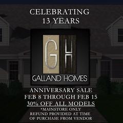 Galland Homes ' 13th Anniversary Sale