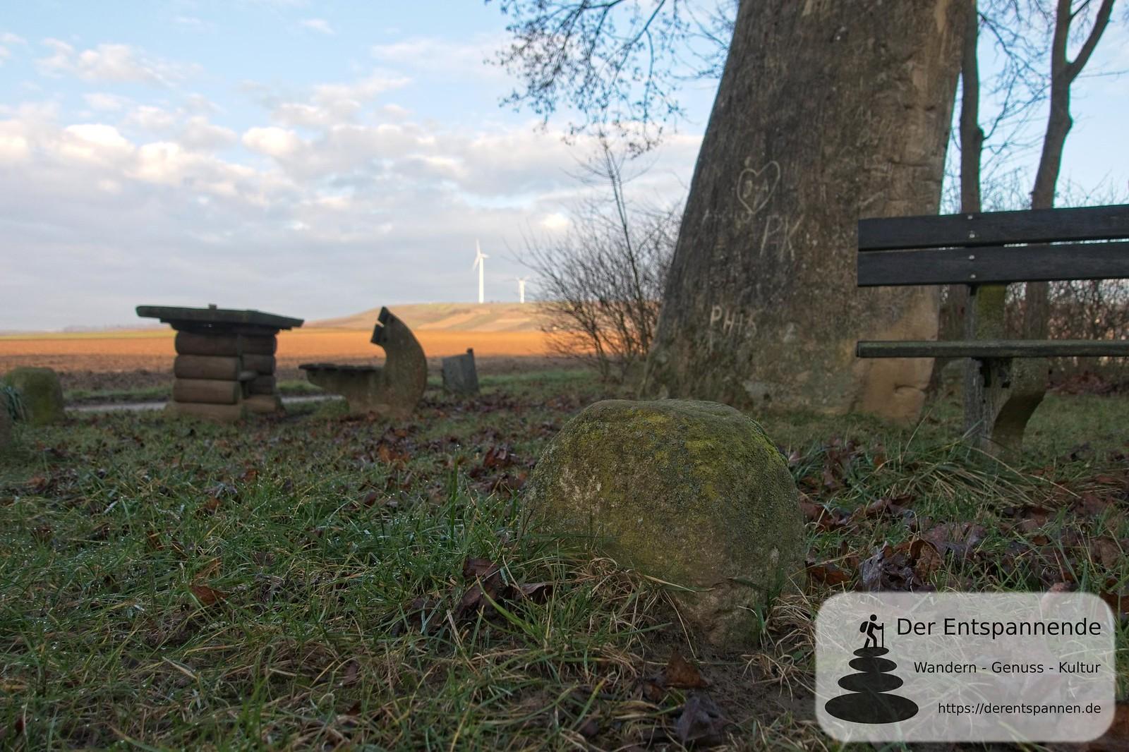 Grenzstein am Hinkelstein von Selzen (Januar am Selzbogen)