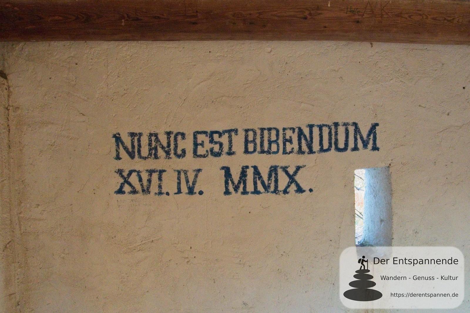 Nunc est Bibendum - Lasset uns trinken (Berghäuschen über Selzen (Januar am Selzbogen)