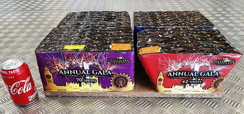 ANNUAL GALA 224 SHOT COMPOUND CAKE by HALLMARK FIREWORKS