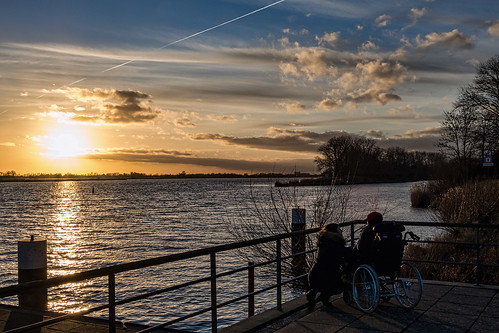 elbe sonnenuntergang sunset fluss river geesthacht