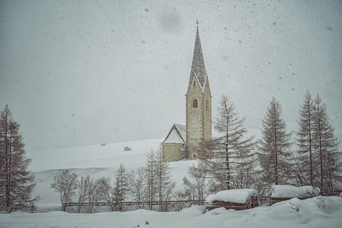 Kals, Tyrol, St. Georg and snowfall | by fritz polesny