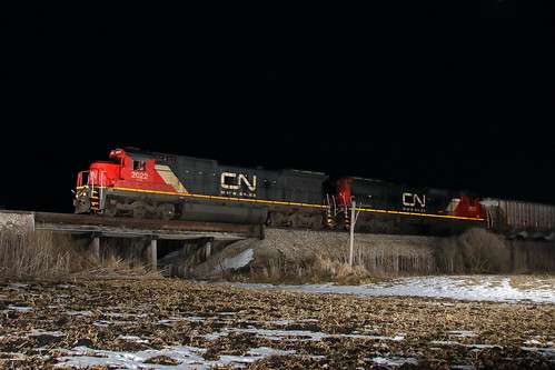 CN 2022 west in Genoa, Illinois on February 7, 2020.