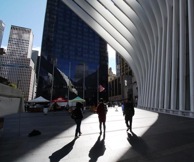 USA - NYC Manhattan - Oculus- WTC - Silhouettes on Fulton Street