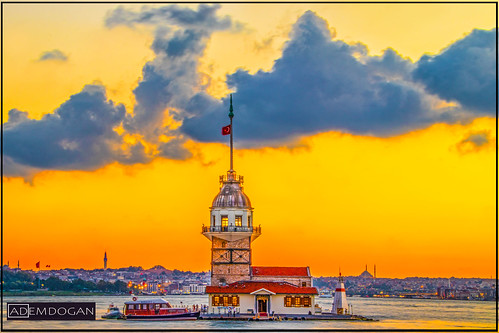 kizkulesi maidenstower istanbul türkiye türkei turkey sunlights sunset tele travel holiday landschaft landscape canoneos77d