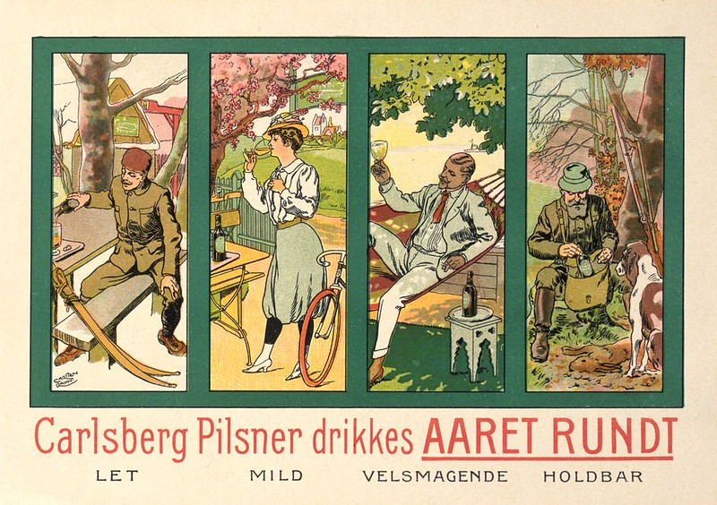 Carlsberg-Pilsner-drikkes