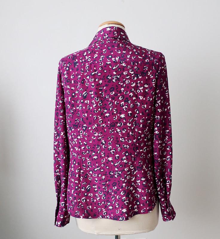 Purple dot shirt back on form