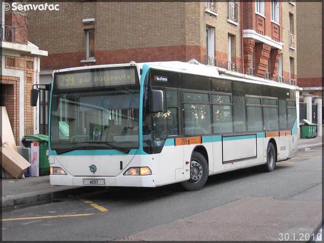 Mercedes-Benz Citaro – RATP (Régie Autonome des Transports Parisiens) / STIF (Syndicat des Transports d'Île-de-France) n°4257