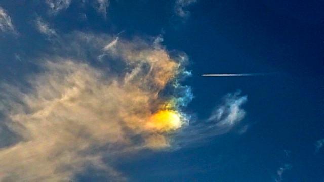 Flying into a Sundog... 11:44 GMT 08/02/20