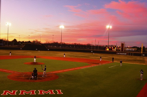 newmexicomilitaryinstitute nmmi newmexico roswell baseball sunset