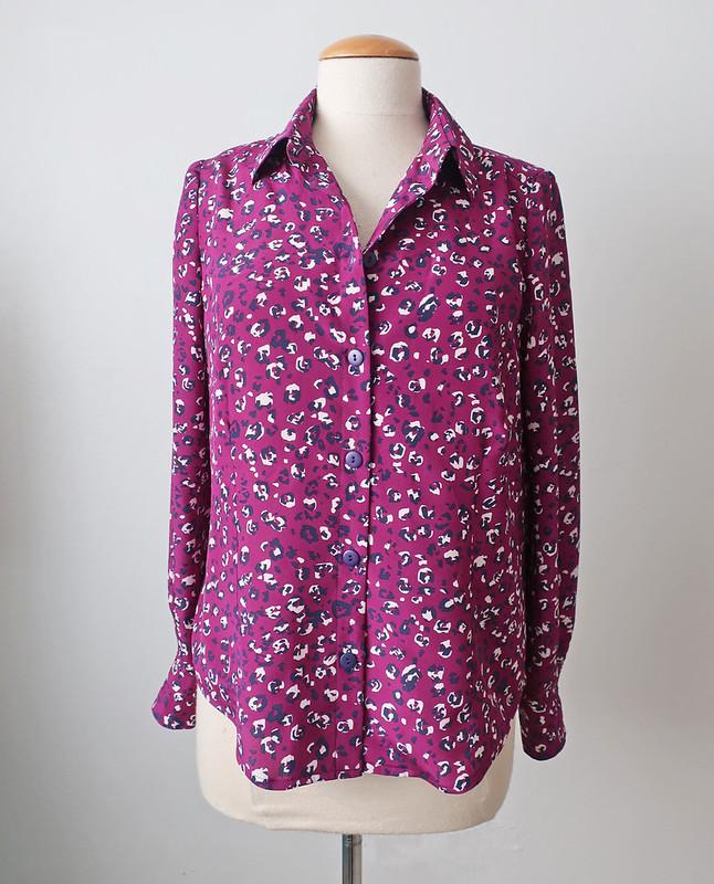 Purple dot shirt front