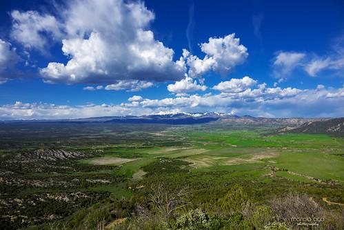 colorado mesaverde mancosvalley overlook valley sky mountains rockymountains wideangle landscape