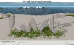 ".:Tm:.Creation ""Love Rock"" Stone Words on wildgrass V16"