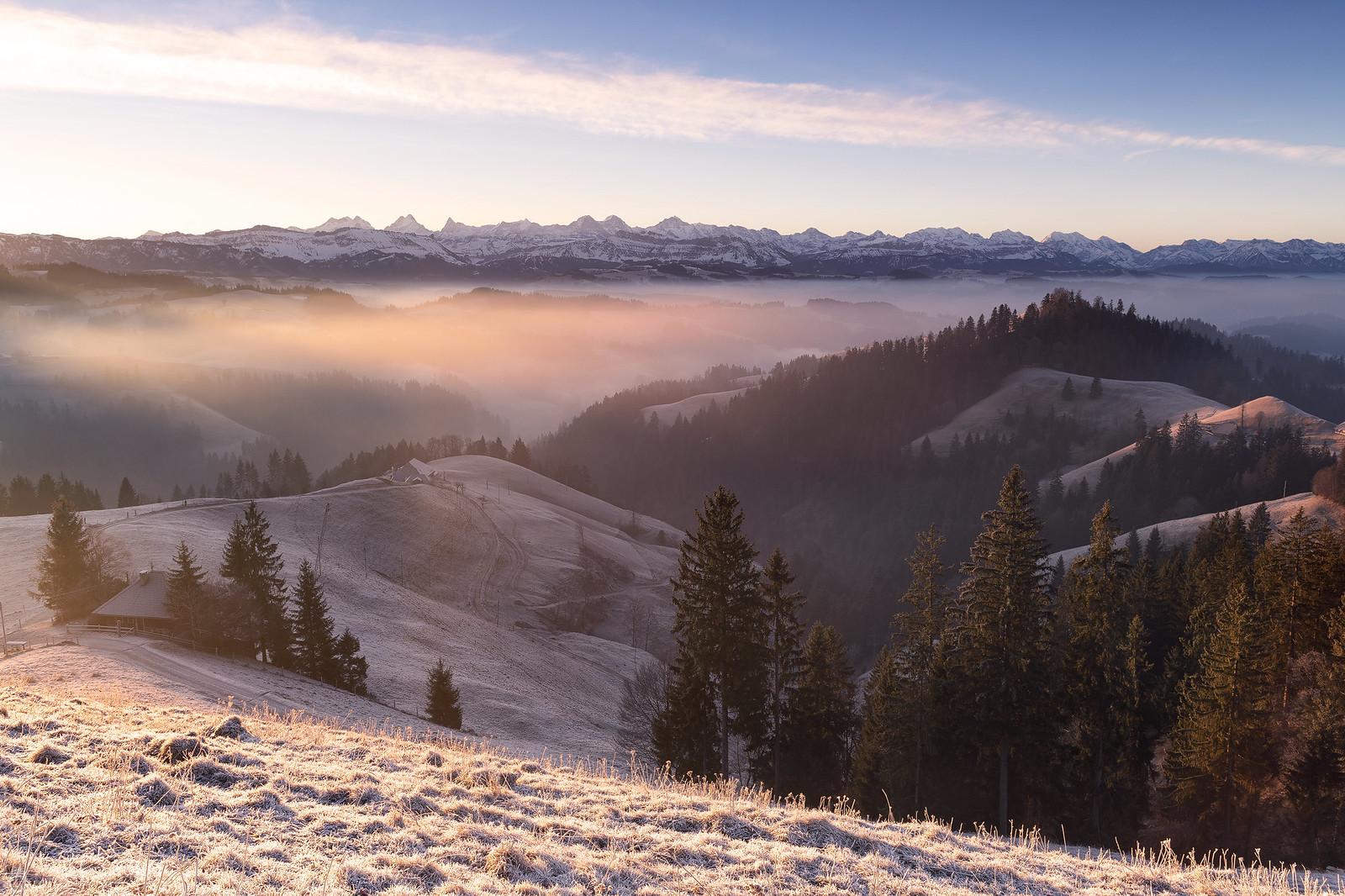 Sunlight in the fog - Lüderenalp