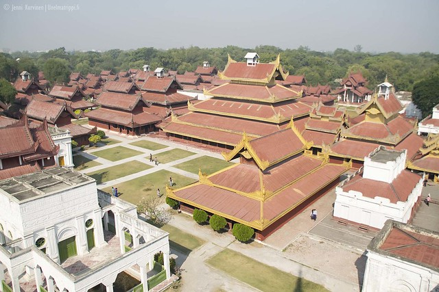 Näkymä Mandalayn Kultaisen palatsin näköalatornista