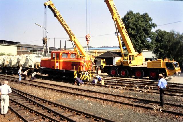 Entgleisung der Gontermann-Peipers Werkslok im Bahnhof Kaan-Marienborn