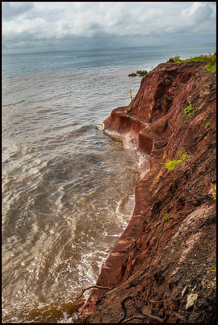 High Tide at Red Cliffs of Scarborough-1=