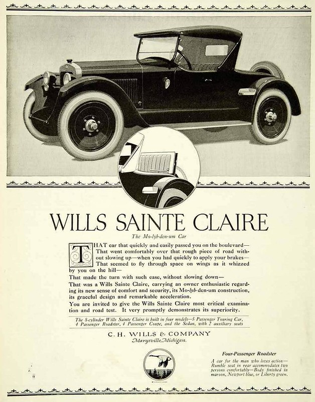 1921 Wills Sainte Claire Four- Passenger Roadster