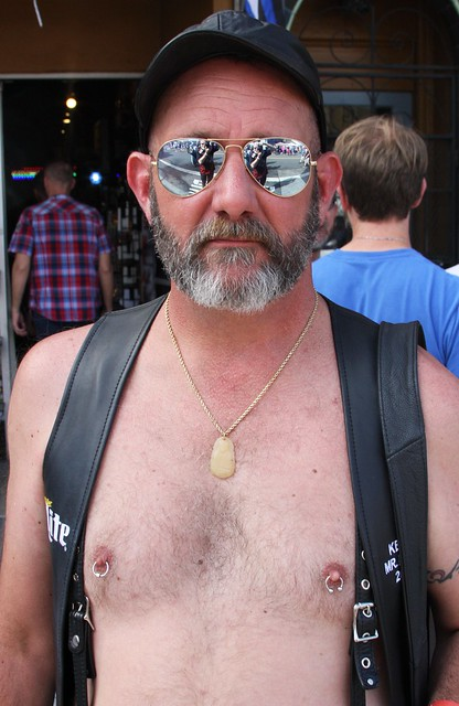 HELLA HOT & HAIRY LEATHER DADDY !~ CASTRO STREET FAIR 2019 ! ( safe photo )