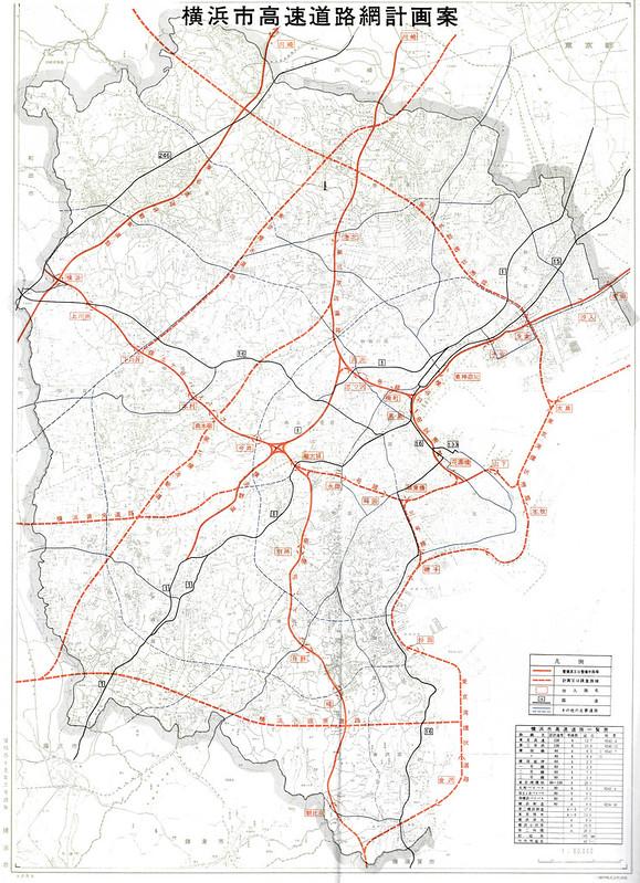 1970年の横浜周辺高速道路地図 (2)