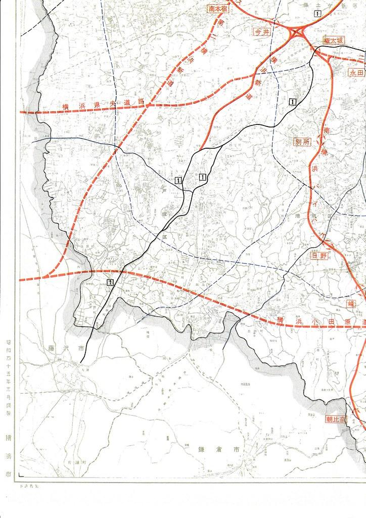 1970年の横浜周辺高速道路地図 (4)