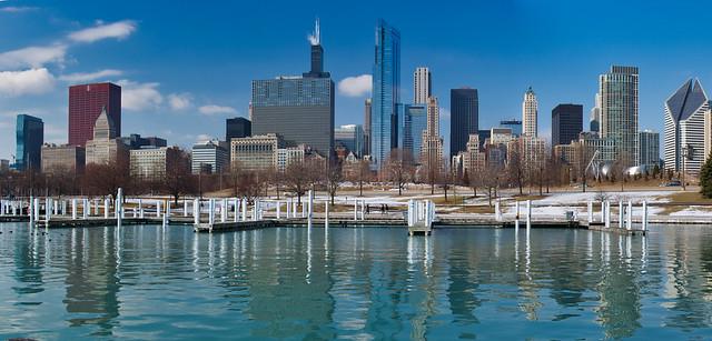 Chicago shoreline.