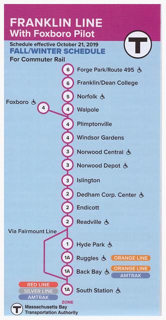 MBTA Franklin Line Foxboro 10-2019