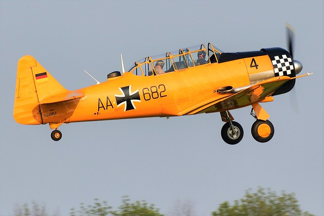 1AA_7959 North American Texan 6J Harvard Mk-IV Luftwaffe Badge N542PJ AA-682 Built as a Harvard 4 at Fort William Thunder bay Ontario Canada USAF serial number 53-4623