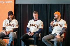 Brandon Crawford, Drew Smyly, and Evan Longoria - SF Giants FanFest 2020