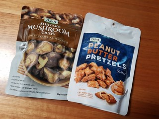 Mushroom Crisps and Peanut Butter Pretzels