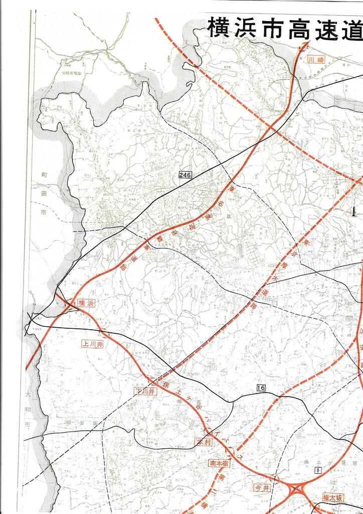 1970年の横浜周辺高速道路地図 (3)