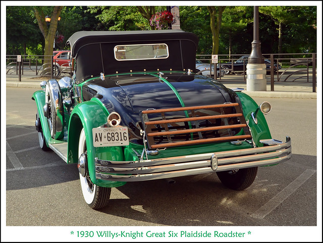 1930 Willys-Knight Great Six Plaidside Roadster