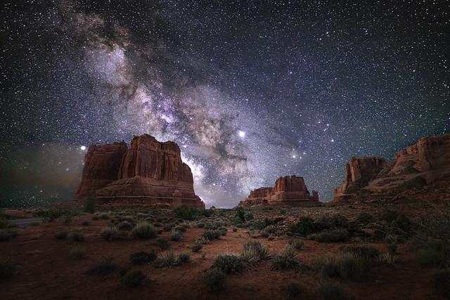 Milky Way Lights the Way