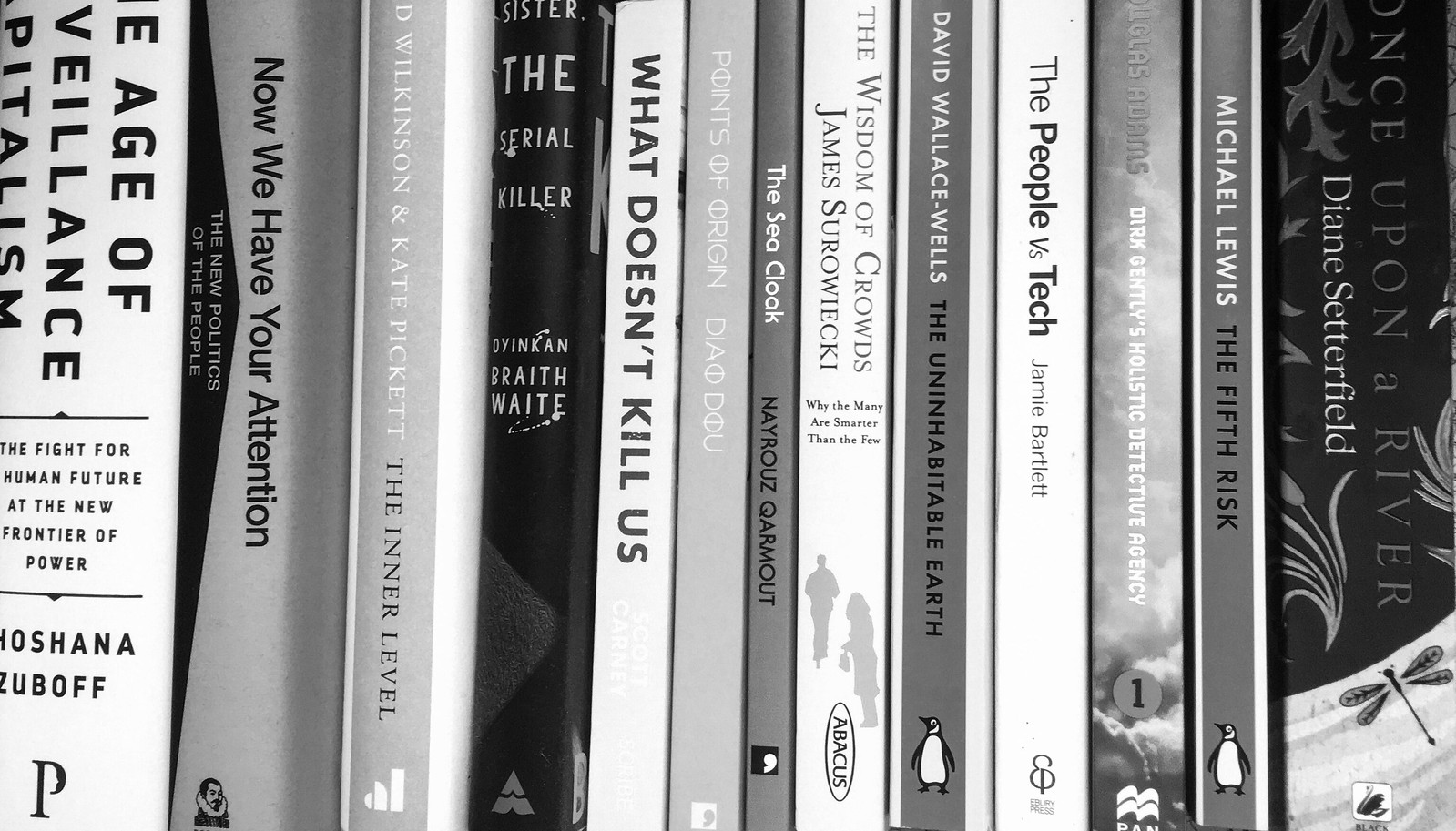 Book stack rotated