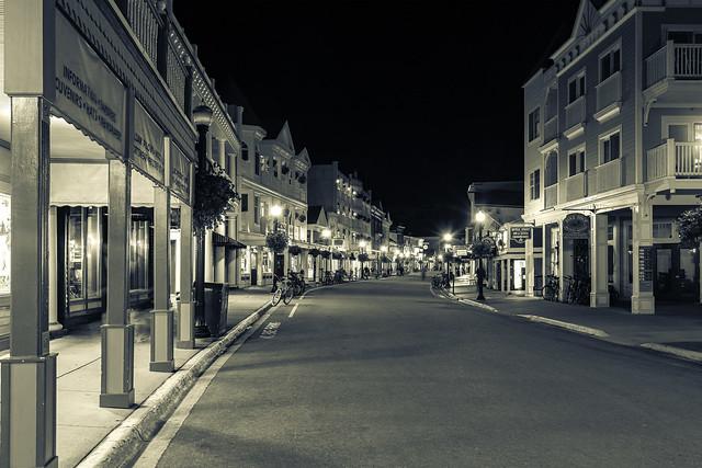 main street on Mackinac Island - B&W Split-Tone