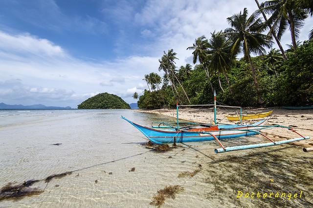 Playa Las Cabañas. El Nido. Isla de Palawan. Filipinas